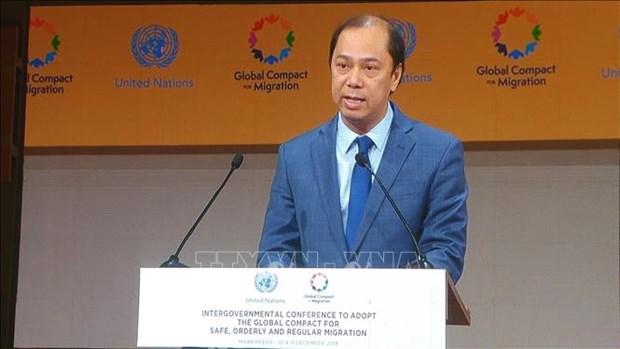 越南代表出席政府间会议 通过联合国《全球移民契约》 hinh anh 2