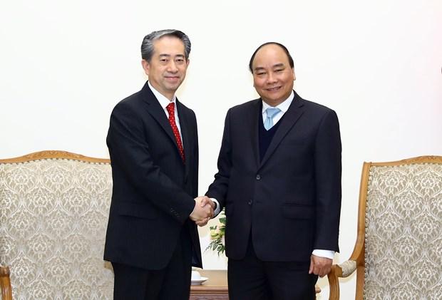 政府总理阮春福分别会见中国和丹麦两国驻越大使 hinh anh 1
