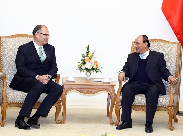 政府总理阮春福分别会见中国和丹麦两国驻越大使 hinh anh 2