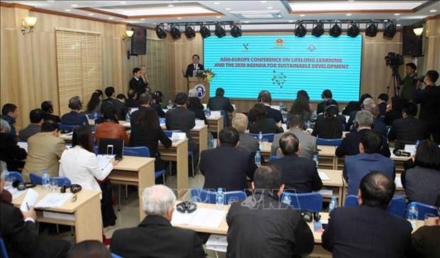 """题为""""终身学习和到2030年可持续发展目标""""的亚欧会议在河内召开 hinh anh 1"""