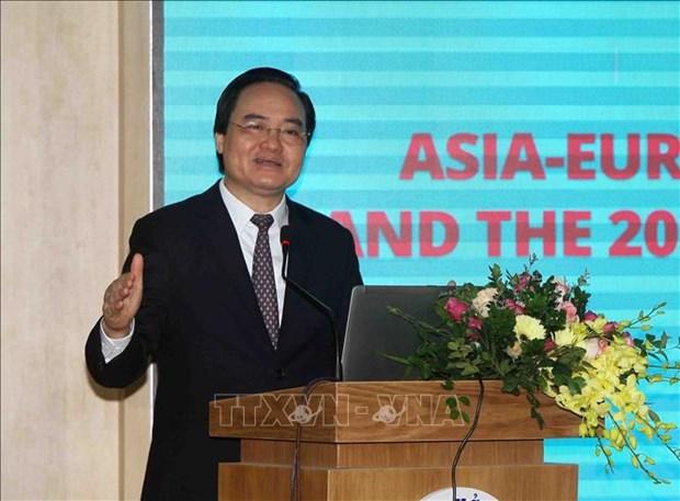 """题为""""终身学习和到2030年可持续发展目标""""的亚欧会议在河内召开 hinh anh 2"""