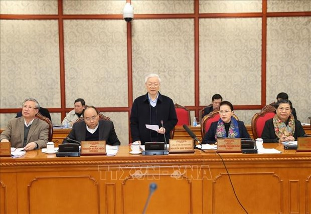 越共中央政治局同海防市委常务委员会举行工作会议 hinh anh 2