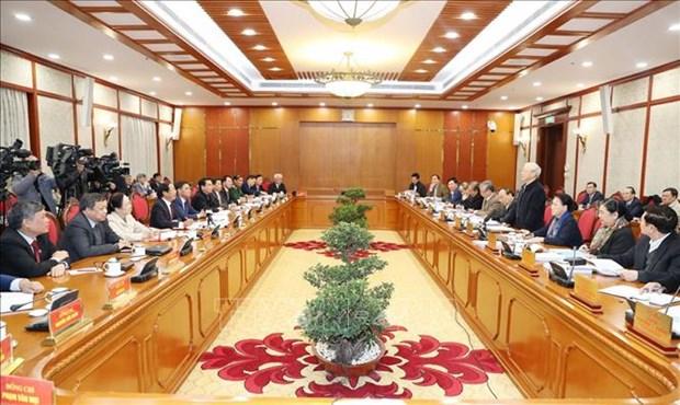 越共中央政治局同海防市委常务委员会举行工作会议 hinh anh 1