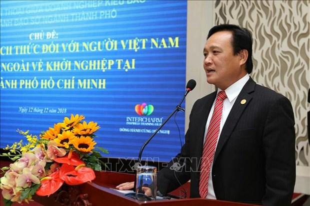 胡志明市领导与旅外越南企业家举行对话活动 hinh anh 2