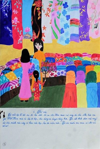 亚洲儿童绘画日记展 越南学生获大奖 hinh anh 1