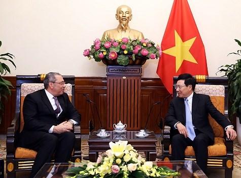 政府副总理范平明会见埃及驻越大使 hinh anh 1