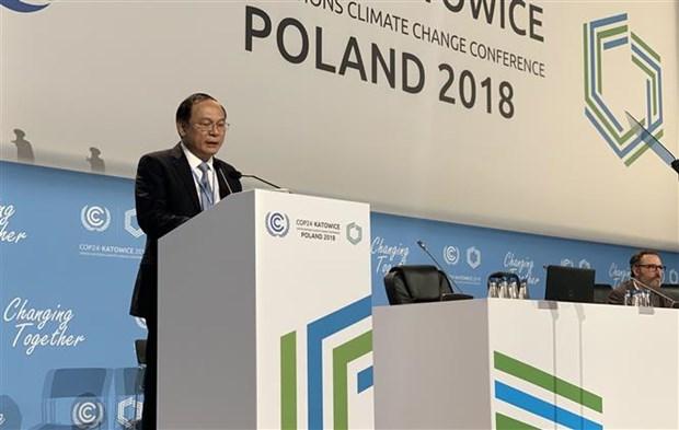COP24:越南呼吁各国加快贯彻落实《巴黎气候变化协定》 hinh anh 1