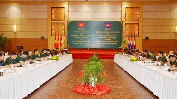 越柬加强合作维护边境稳定 hinh anh 1