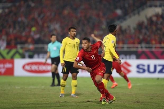 2018年铃木杯东南亚足球锦标赛决赛第二回合: 越南队以3比2总比分完胜 夺得冠军 hinh anh 2