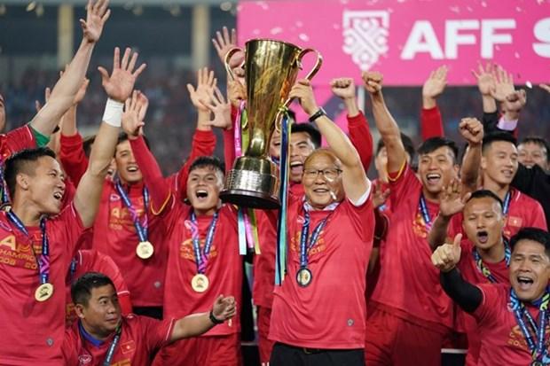 2018年铃木杯东南亚足球锦标赛决赛第二回合: 越南队以3比2总比分完胜 夺得冠军 hinh anh 1