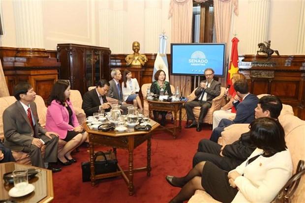 越南国会代表团访问阿根廷 hinh anh 1