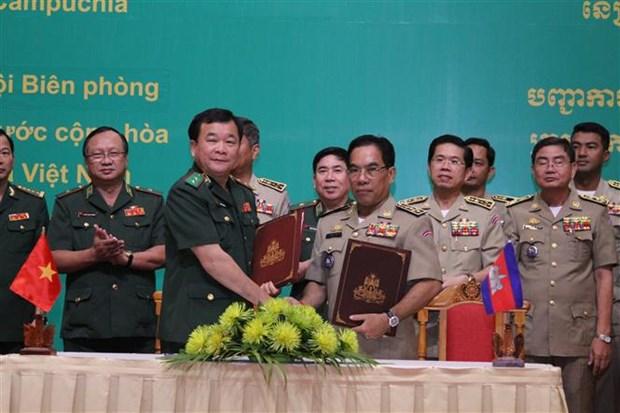 越南与柬埔寨加强边境管理合作 保持边境地区安全稳定 hinh anh 2
