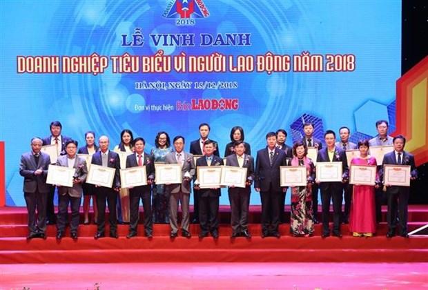"""越南60家企业荣获""""致力于劳动者模范企业""""奖 hinh anh 2"""