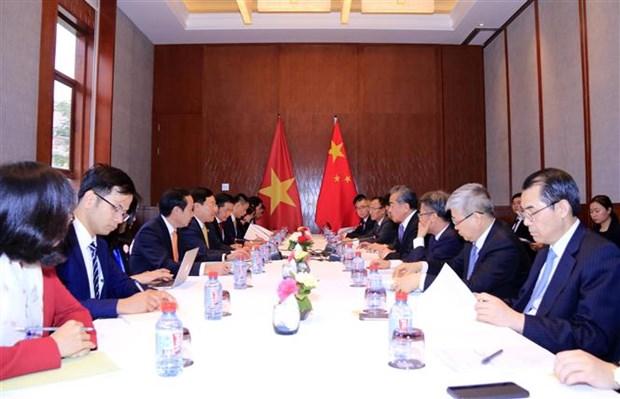 越中两国外交部长举行会谈 hinh anh 2