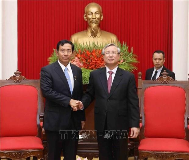 缅甸巩固与发展党高级代表团访问越南 hinh anh 1