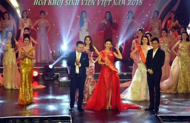 阮氏芳兰获得2018年越南大学校花称号 hinh anh 2