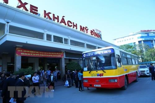 河内计划安排春节班车接送大学生和工人返乡过年 hinh anh 1