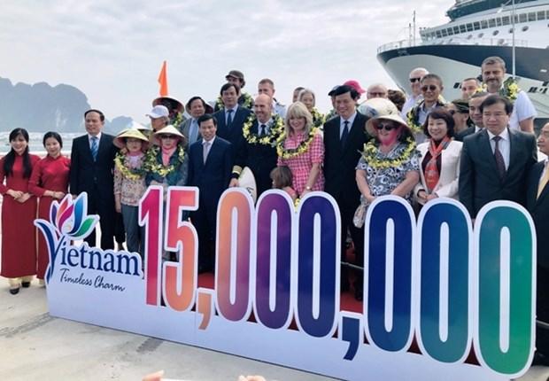 越南迎来2018年第1500万名国际游客 hinh anh 1