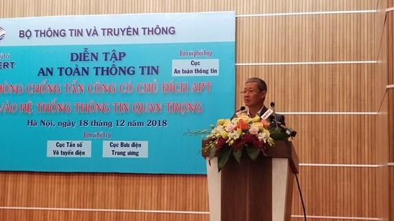 越南举行最具规模的网络安全攻防应急演练 hinh anh 1