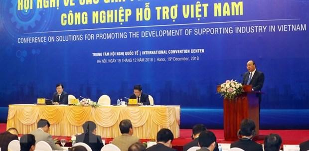 阮春福总理主持促进越南辅助工业发展各项措施会议 hinh anh 1