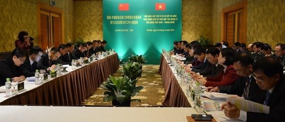 越中陆地边境口岸管理合作委员会第六次会议在河内召开 hinh anh 1