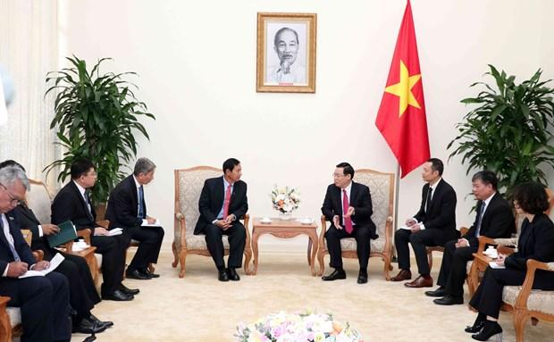 政府副总理王廷惠会见缅甸巩固与发展党高级代表团 hinh anh 1