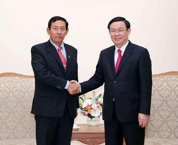 政府副总理王廷惠会见缅甸巩固与发展党高级代表团 hinh anh 2