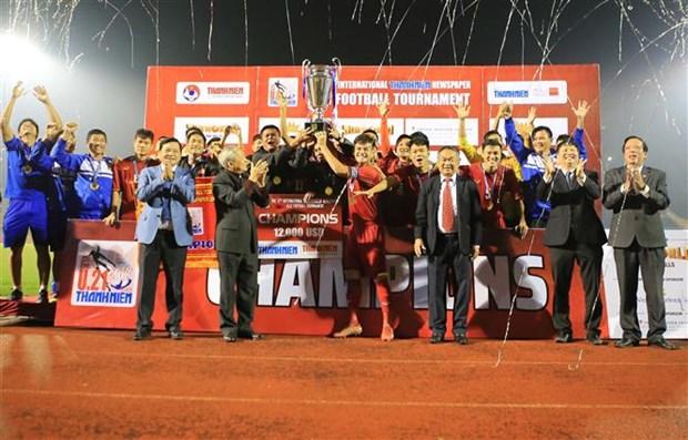 2018年越南《青年报》国际U21足球锦标赛:越南队夺冠 hinh anh 1
