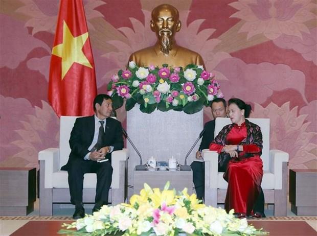 阮氏金银会见缅甸巩固与发展党高级代表团 hinh anh 1