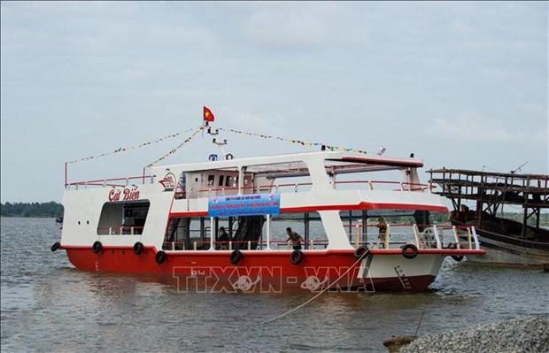 广南省首艘钢壳船成功下水 hinh anh 2
