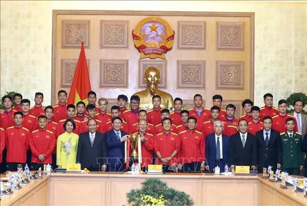 政府总理阮春福:足球是一个爱国主义运动 激发民族自豪感 hinh anh 1