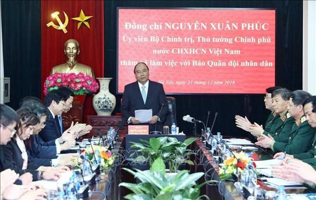 越南政府总理阮春福走访《人民军报》报社 hinh anh 2