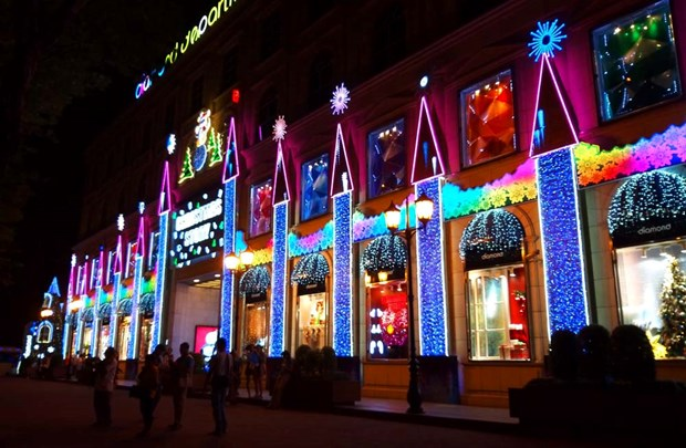 胡志明市年轻人提前迎接圣诞节 hinh anh 2