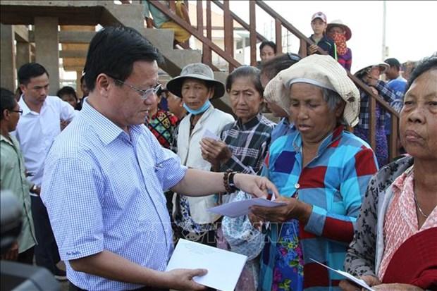 越南党和政府一直关注越裔柬埔寨人和柬埔寨穷人 hinh anh 1