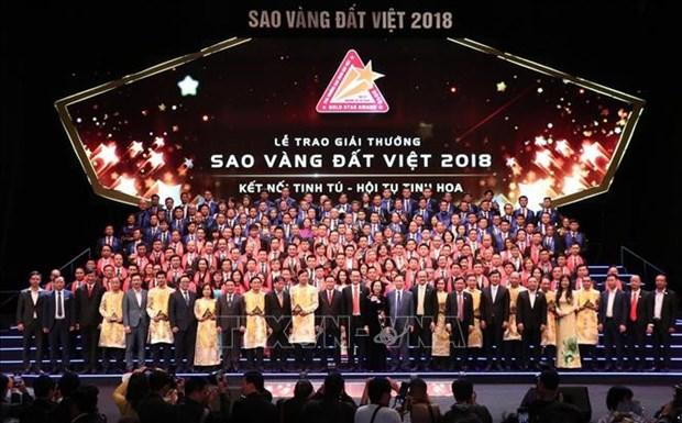 200家模范企业荣获2018年越南金星奖 hinh anh 1
