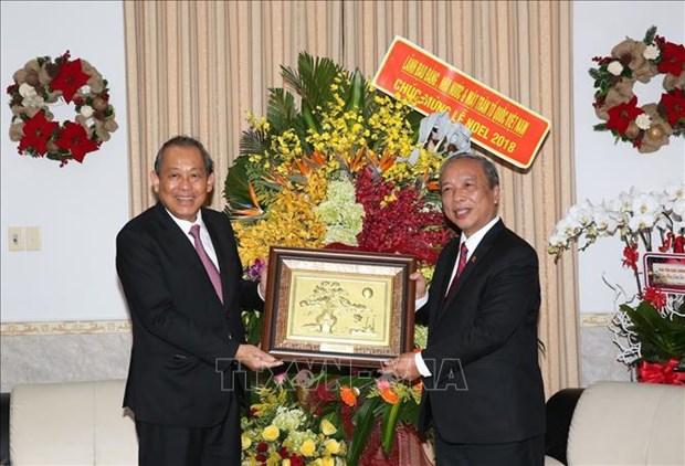 政府常务副总理张和平走访岘港教区 hinh anh 2