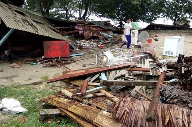 印尼万丹遭海啸袭击 死亡人数持续增加 hinh anh 1