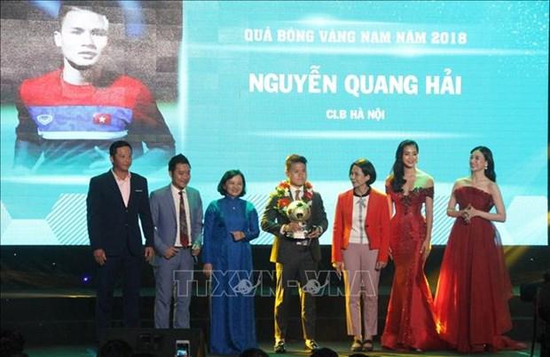阮光海荣获2018年越南男子金球奖 hinh anh 1