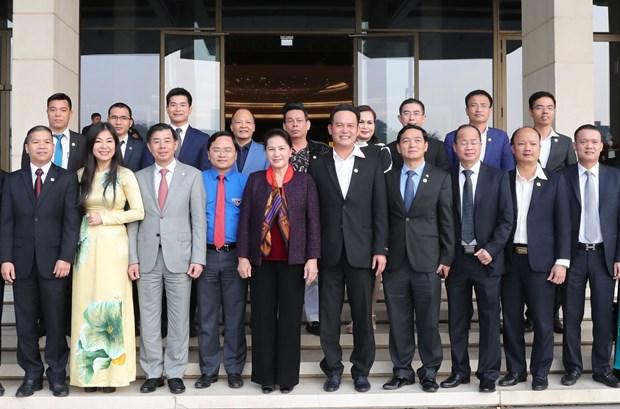 越南国会主席阮氏金银会见越南青年企业家代表 hinh anh 2