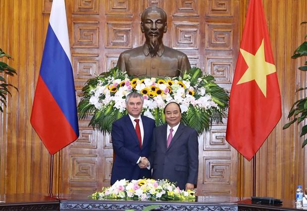 越南政府总理阮春福会见俄罗斯联邦国家杜马主席 hinh anh 1