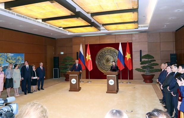 俄罗斯国家杜马主席圆满结束对越南进行的正式访问 hinh anh 1