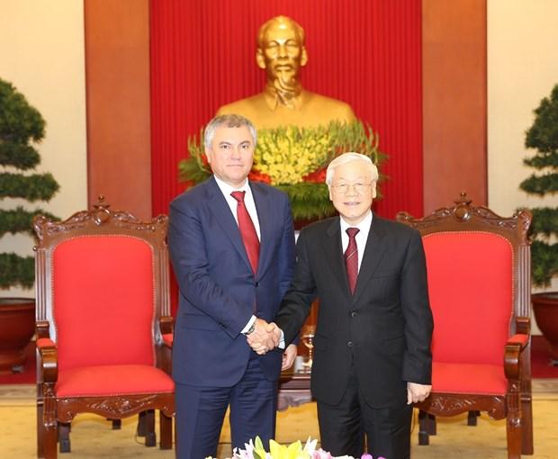 俄罗斯国家杜马主席圆满结束对越南进行的正式访问 hinh anh 2