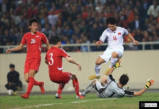 2019年亚洲杯热身赛:越南队主场与朝鲜队1-1握手言和 hinh anh 1