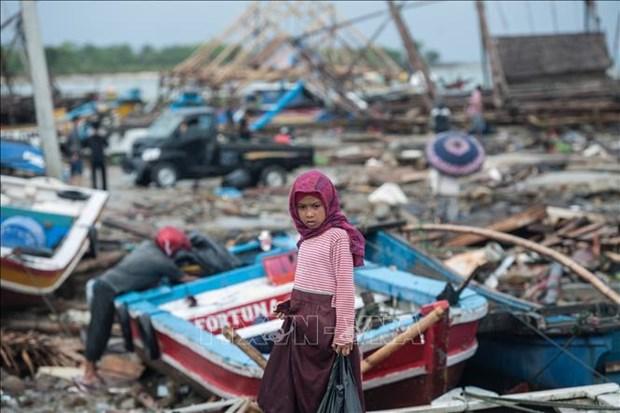 印尼海啸:受伤人员正得到积极救治 hinh anh 1