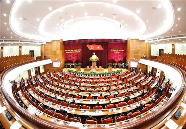 越共第十二届中央委员会第九次全体会议落幕 hinh anh 1