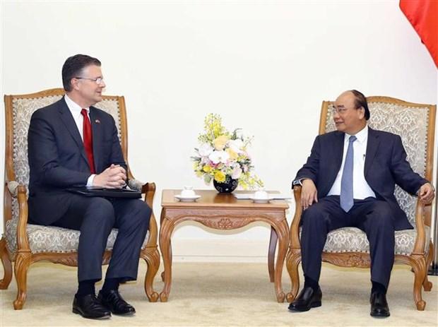 越南政府总理阮春福会见美国驻越大使 hinh anh 1