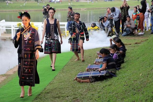 宝禄丝绸和林同土锦时装秀在大叻市举行 hinh anh 2