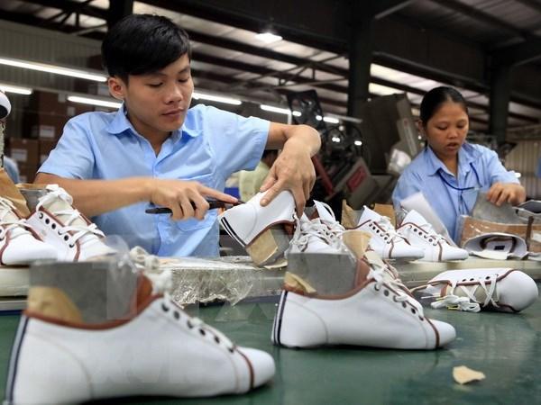 2019年越南鞋类力争出口额达到215亿美元的目标 hinh anh 1