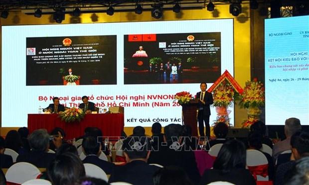 海外侨胞与越南国内各地对接会在乂安省举行 hinh anh 1