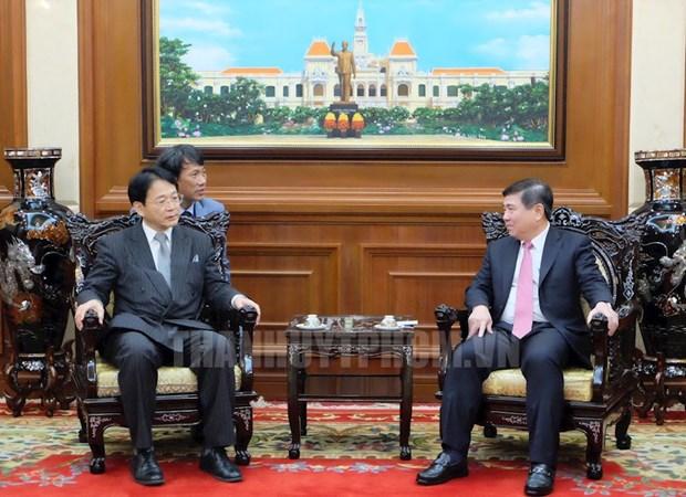促进越南胡志明市与日本爱知县合作 hinh anh 1